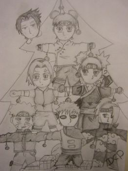 naruto christmas three by Soulleszz