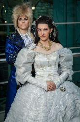 The Labyrinth's Sarah and Jareth by Cosmic-Empress