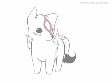 Chibiterasu animation by Midna01