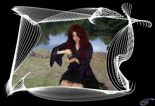 Witch at Lakeside in frame by tudorman
