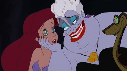 Kaa and Ursula hypnotizes Ariel by hypnotica2002