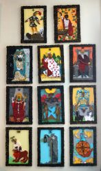 Rider Waite Major Arcana Quilled (First Half) by El-Sharra
