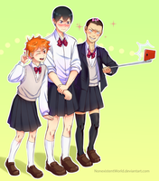 Kageyama-chan and friends by NonexistentWorld