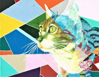 Stained Glass Window Cat by 1049286