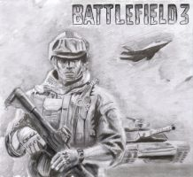 Battlefield 3 Drawing by Hulkster77