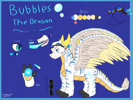 Bubbles The Dragon Reference by FanDragonBrigitha