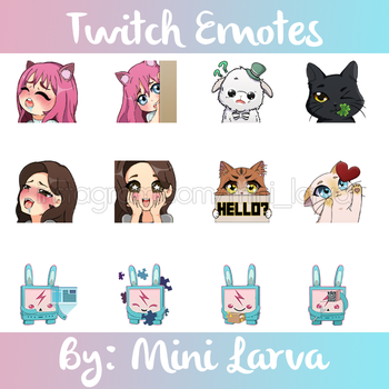 Emotes Commision by MiniLarva