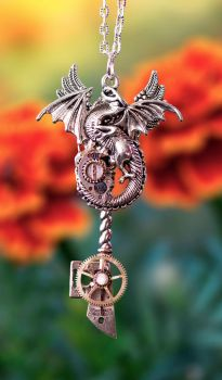 Steampunk Dragon Key by BrightStarGifts