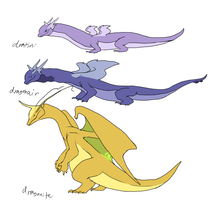 Dragonite family by umbbe