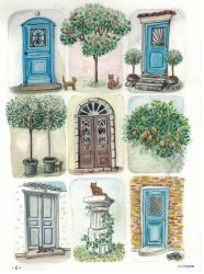 [Greece] Doors and cats by EpsilonEridani
