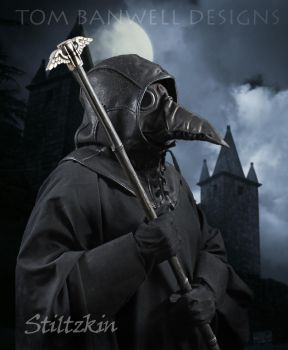 Plague Doctor Wearing the Stiltzkin Mask by TomBanwell