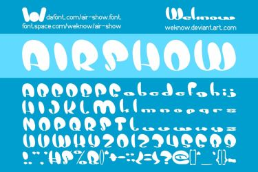 Air Show font by weknow