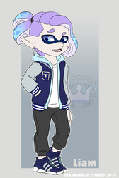 Splatoon OC: Liam by StarkindlerStudio
