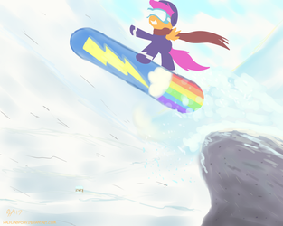 Snowboarding (ATG7 - Day 25) by HalflingPony