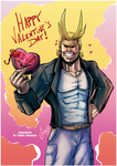 Valentine's 2018 - All Might by Nekoi-Echizen