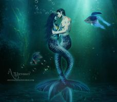 The Love Mermaids couple by annemaria48