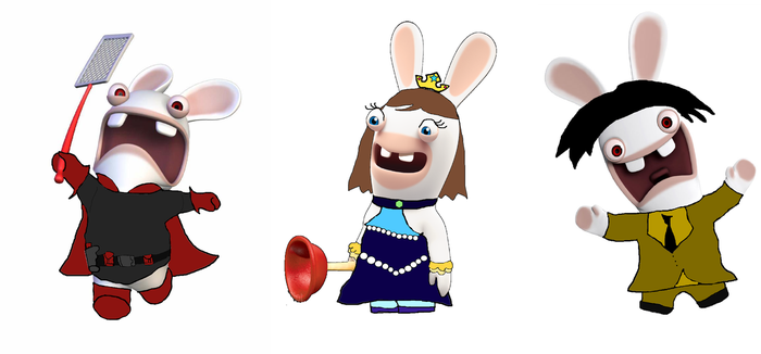TTBoy and Kid Utut Rabbids Redesigned Outfits by 357Magnolia
