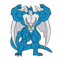 Anthro Muscle - Exveemon by YourInnerBeast