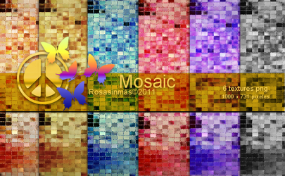 Pack Textures - Mosaic by ROSASINMAS
