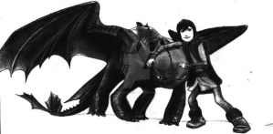 Hiccup And Toothless by AnakinJones