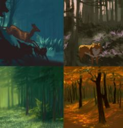 Forest sketches by Grawuar