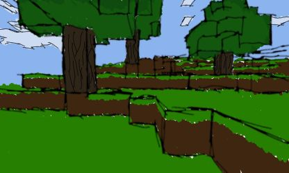 Minecraft Terrain Sketch by jamesdude55