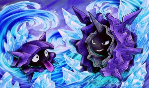 Shellder and Cloyster Commission