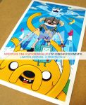 Adventure Time x Skyrim Limited Edition Posters by DoomCMYK