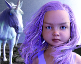 Violette and the Unicorn by Zethara