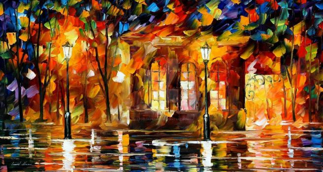 Flames Of Happiness by Leonid Afremov by Leonidafremov