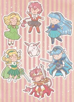Magic Knight Rayearth - sticker set by orinocou
