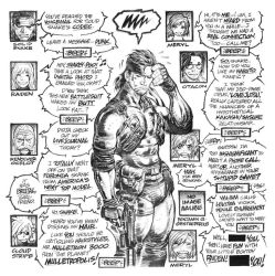 SOLID SNAKE'S voice mail by AdamWarren