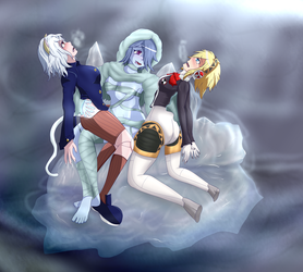 Neferpitou and Aigis: Brides of the Ice Mummy! by Shaded-Seraphim
