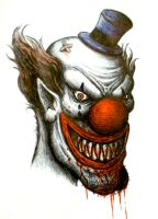 creepy clown by Jared1481
