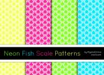 Neon Fish Scale Patterns by MysticEmma