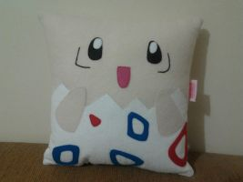 Handmade Anime Pokemon Togepi Fan Art Plush Pillow by RbitencourtUSA
