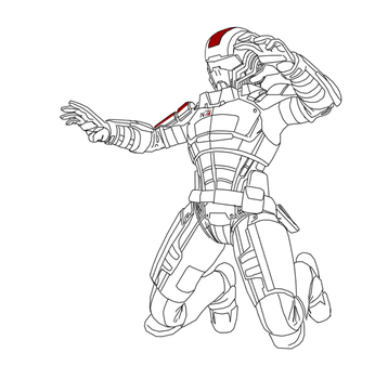 Cleaned up lines for a Mass Effect doodle. by DocShaftoe