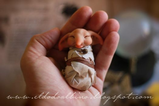 Baby house elf , ooak sculpt . SOLD by dodoalbino