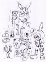 Bunny Rabbot new look and some details by DarkHedgehog23