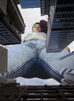 Giantess Anya Enters in by dochamps