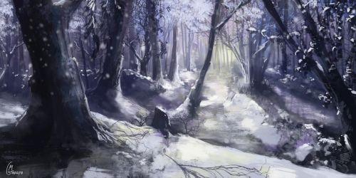 Snow Forest by behindspace99