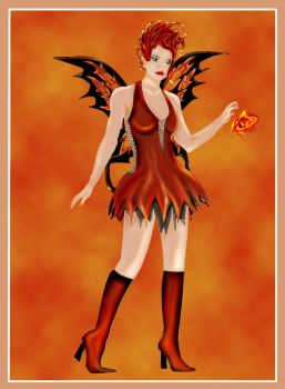 Fire Faerie Ruby by Valindra