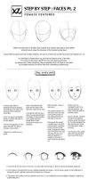 How to draw : Faces Pt. 2 (Female) by leexz
