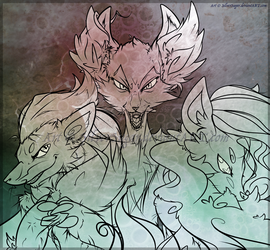 Lines: Moidah Foxes by SilverSugar