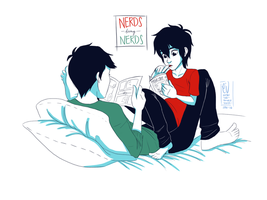 Nerds being nerds by URESHI-SAN