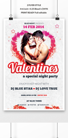 Valentine's Day Party Flyer by webduckdesign