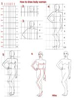 Tutorial draw body  woman by lamorghana