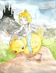 And now we ride Chocobo! by Kehmy