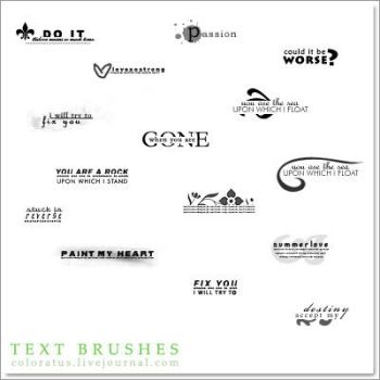 Text Brushes by n0stalgic