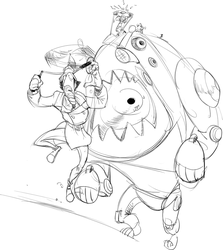Go-Go Gadget DON'T EAT ME-SKETCH by CarrotsWanted